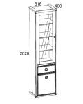 Шкаф с витриной Магеллан 1V1D1S