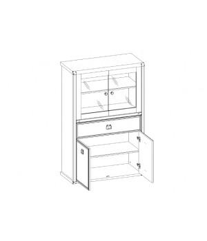 Шкаф с витриной Магеллан 2V2D1SL