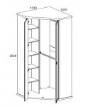 Шкаф угловой Магеллан 2D дуб саттер