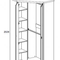 Шкаф угловой Магеллан 2D сосна винтаж