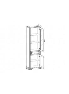 Шкаф с витриной Монако 1V1D1S