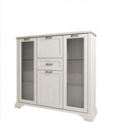 Шкаф с витриной Монако 2V2D1S