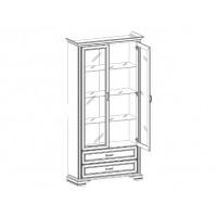 Шкаф с витриной Монако 2V2S