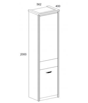 Шкаф Прованс 1D
