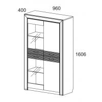 Шкаф с витриной Вена 2V2D