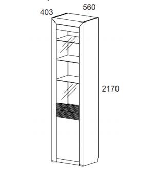Шкаф с витриной Вена 1V1D