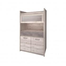 Шкаф с витриной 1V2D1S Джаз