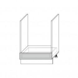 Шкаф открытый 1S/60-46, Камень светло-серый