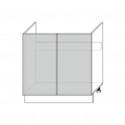 Шкаф под мойку 2D/80-46, Камень светло-серый