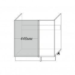Шкаф под мойку угловой 1D/80-1-51, Камень светло-серый