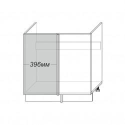 Шкаф под мойку угловой 1D/80-46, Камень светло-серый