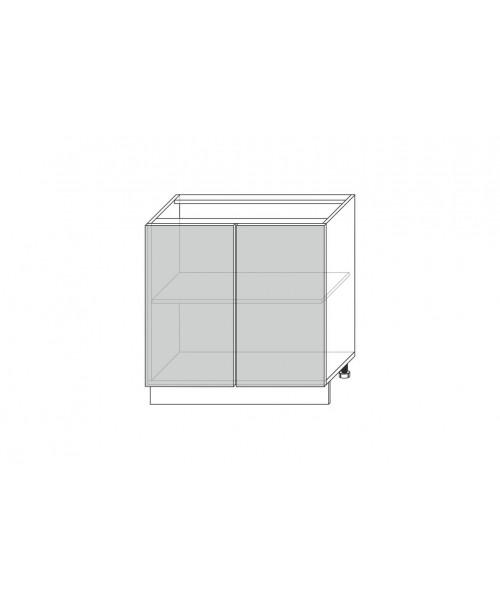 Шкаф под мойку 2D/80-51, Камень светло-серый