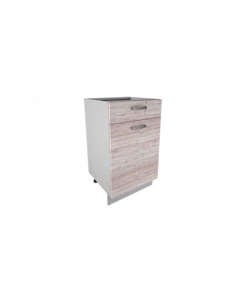 Кухонный шкаф-стол Alesia 1D1S/60-F1 дуб анкона
