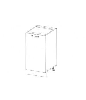 Кухонный шкаф-стол Alesia 1D/40-F1 дуб анкона