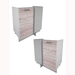 Кухонный шкаф под мойку угловой Alesia 1D/80-F1 дуб анкона