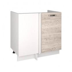 Кухонный шкаф под мойку угловой Alesia 1D/80-F1 сосна винтаж