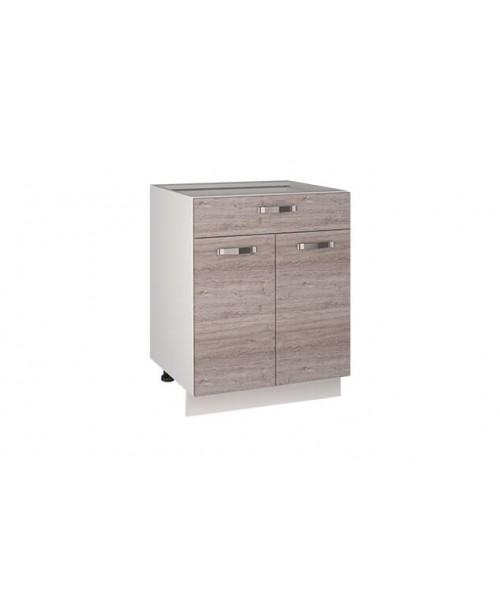 Кухонный шкаф-стол Alesia 2D1S/60-F1 дуб анкона