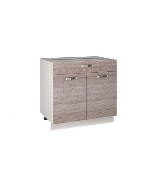 Кухонный шкаф-стол Alesia 2D1S/80-F1 дуб анкона
