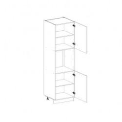 Кухонный шкаф-пенал Alesia 2D1N/60-F1 дуб анкона