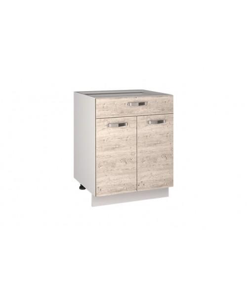 Кухонный шкаф-стол Alesia 2D1S/60-F1 сосна винтаж