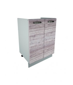Кухонный шкаф под мойку Alesia 2D/60-F1 дуб анкона