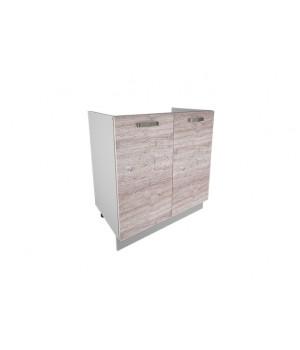 Кухонный шкаф под мойку Alesia 2D/80-F1 дуб анкона