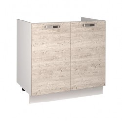 Кухонный шкаф под мойку Alesia 2D/80-F1 сосна винтаж