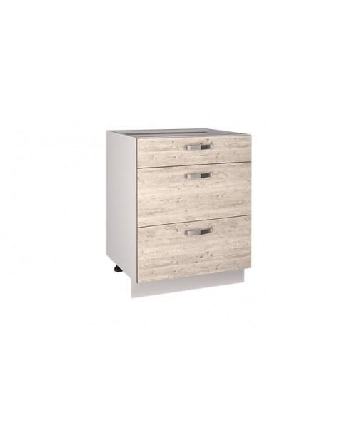 Кухонный шкаф-стол Alesia 3S/60-F1 сосна винтаж