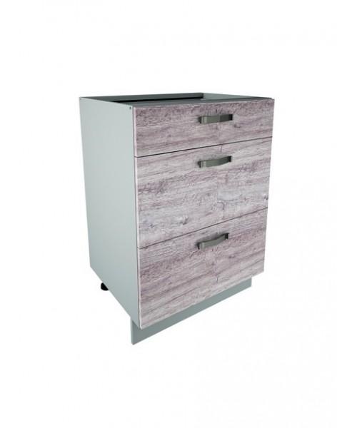 Кухонный шкаф-стол Alesia 3S/40-F1 дуб анкона