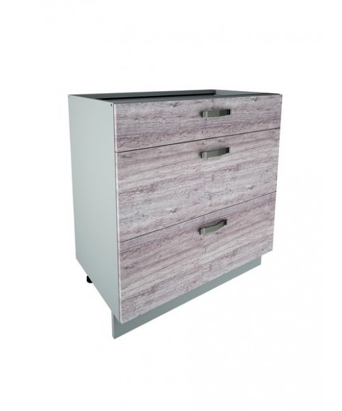 Кухонный шкаф-стол Alesia 3S/80-F1 дуб анкона