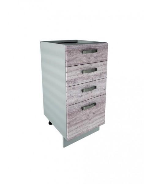 Кухонный шкаф-стол Alesia 4S/40-F1 дуб анкона