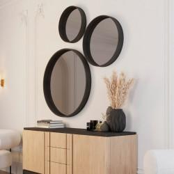 Зеркало круглое Иконс 50 (белёный дуб)
