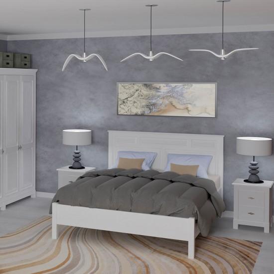 Кровать Рауна Н, 180x200 (белый воск)