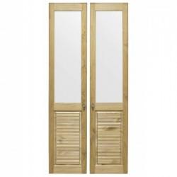 Комплект дверей к стеллажу Рауна 20 (Бейц датский) - 2 шт.