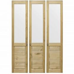 Комплект дверей к стеллажу Рауна 30 (Бейц датский) - 3 шт.