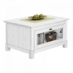 Кофейный столик Рауна (белый воск)