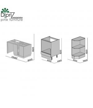 Шкаф нижний 60 см с ящиком (духовая плита), Д 9001-37