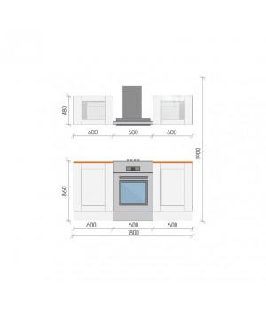 """Кухня """"Аделаида-2"""", 1800, проект №25"""