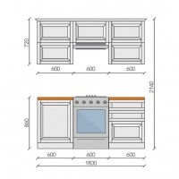 "Кухня ""Ида"", 1800, проект №2"