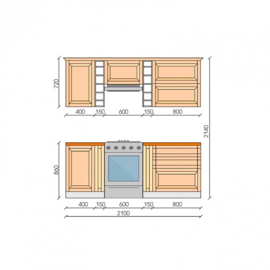 "Кухня ""Барселона"", 2100, проект №5"