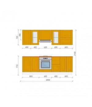 """Кухня """"Берлин"""", 2400, проект №8"""