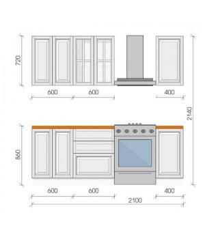"Кухня ""Бона"", 2100, проект №4"