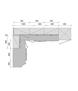 "Кухня ""Честер"", 1900х2800, проект №22"