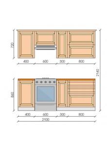 """Кухня """"Ева"""", 2100, проект №6"""