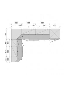 "Кухня ""Мишель"", 1900х2800, проект №21"