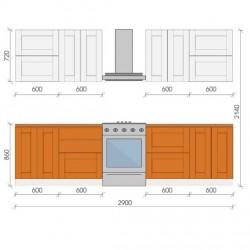 """Кухня """"Сахара"""", 2900, проект №13"""