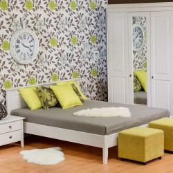 Кровать двуспальная Боцен, Д 7183-10, 180х200 (с низким изножьем)