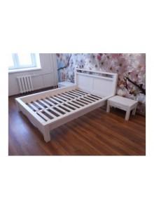Кровать двуспальная Фьорд 180х200 (белый воск)