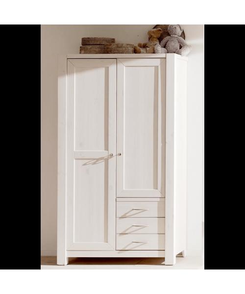 Шкаф двухстворчатый Фьорд 113 (белый воск)