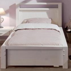 Кровать односпальная Фьорд 90х190 (белый воск)